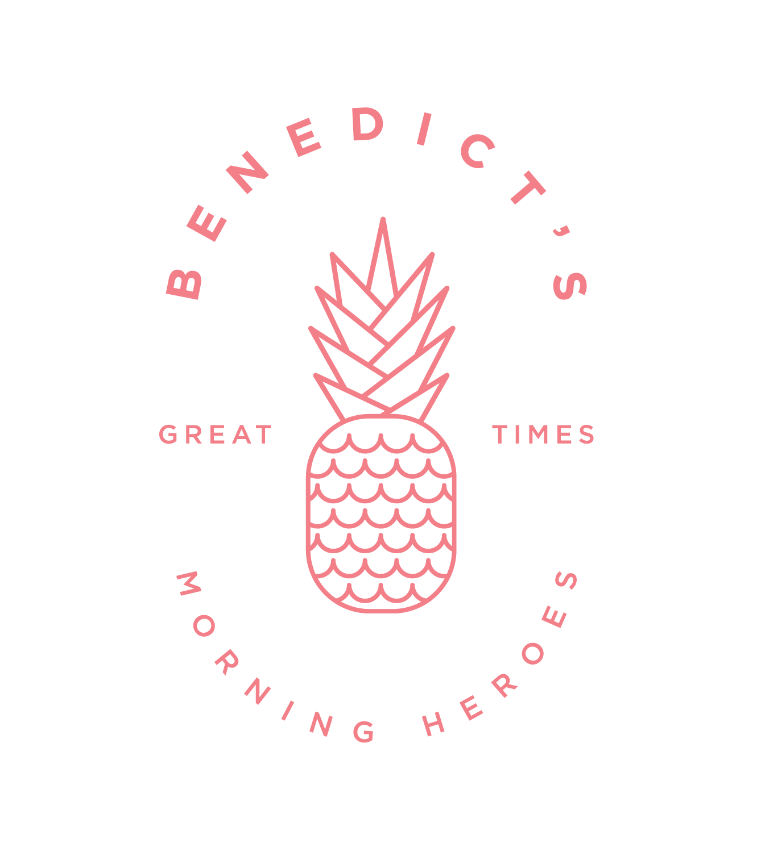 Benedicts_LogoCrest_WhiteBKGD_Pink-01